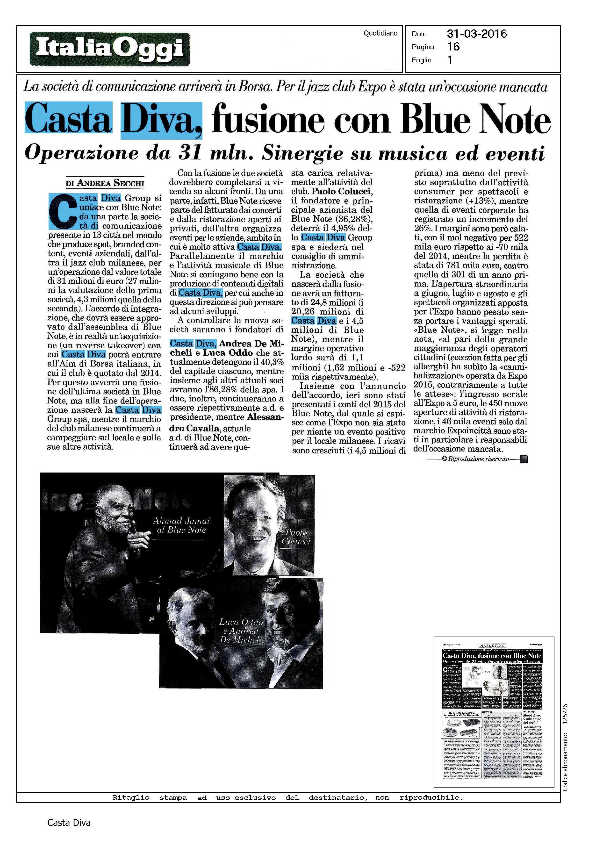 Casta diva fusione con blue note casta diva group - Casta diva group ...