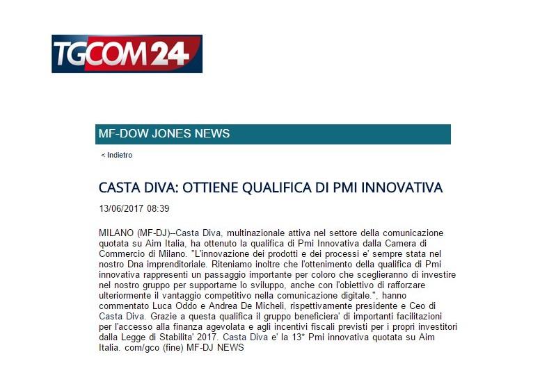 Casta diva ottiene qualifica di pmi innovativa casta diva group - Casta diva group ...